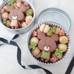 Cookie Box, Cookie Icing, Cookie Gifts, Macaroon Cookies, Meringue Cookies, Bear Cookies, Cute Cookies, Kawaii Cooking, Cookie Packaging