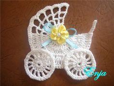 Danity old fashioned pram crochet applique Gallery.ru / Фото #94 - Аппликации, мотивы - git-ta