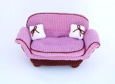 amigurumi pattern  wide pink armchair by amieggs on Etsy, $6.00