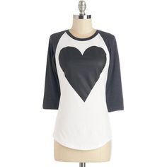 ModCloth Mid-length 3 Love to Lounge Top ($35) ❤ liked on Polyvore featuring tops, t-shirts, apparel, graphic tee, white, cotton tees, white t shirt, heart tee, graphic design t shirts and heart t shirt