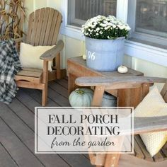 Fall decorating from the garden