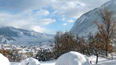 Sierre, paysage hivernal