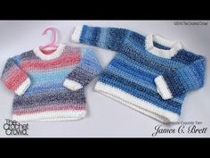 How To Crochet A Sweater - YouTube