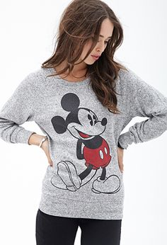 Marled Mickey Mouse Sweater | FOREVER21 - 2000083819