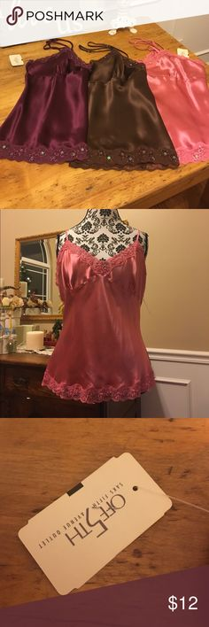 New with Tags Top Camisole 💕 Size XL. From Off 5th Saks Fifth Avenue Outlet. This listing is for the pink one. New with Tags. Gracie Intimates & Sleepwear Chemises & Slips