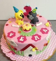 Woezel en Pip taart voor Vera!