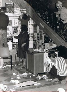 67 bd Vauban, 1978 (?). Dans l'escalier, Maurice Deleforge