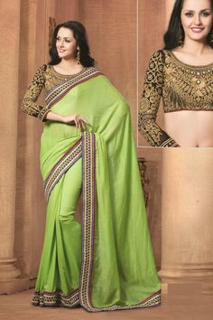 Elegant jute fabric #saree with heavy and fabulous blouse buy from #craftshopsindia   #designersaree