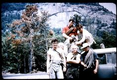 The Vulgarians of the Gunks at Pok-O-Moonshine circa 1959 From L-R: lower: Claude Suhl, John Weichsel, Al DeMaria, Roman Sadowy, upper: Dick Williams, Brian Carey