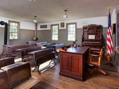 One room schoolhouse.
