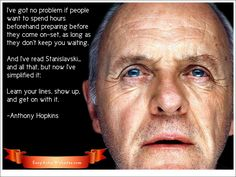 Sir Anthony Hopkins on acting