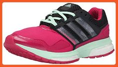 adidas Performance Women's Response Boost 2 Techfit W Running Shoe, Pink/Black/Green, 8 M US - Athletic shoes for women (*Amazon Partner-Link)