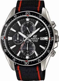 CASIO Edifice Chrono Black &Red Fabric Strap EFR-546C-1AVUEF