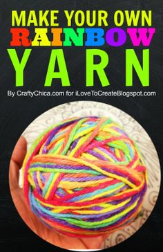 How to make your own rainbow yarn using fabric dye! Easy Paper Flowers, Paper Flower Tutorial, Mason Jar Crafts, Mason Jar Diy, Easy Crafts To Sell, Popular Crafts, Christmas Paper Crafts, Dollar Store Crafts, Creating A Blog