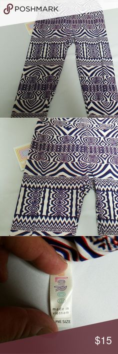 Leggings with Funky Design These leggings are white, purple with a little blue. LuLaRoe Pants Leggings