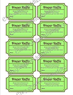 Instant Green Printable Baby Shower By Middlebefore Duck Diapers