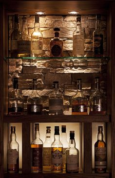Whisky display -Clachaig Inn Glencoe