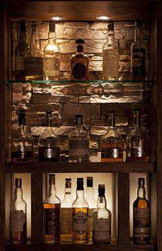 Whisky display-Clachaig Inn Glencoe