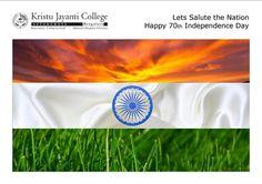 As Our Country celebrates her 70th years of freedom, Kristu Jayanti Family wishes all of you Happy Independence Day! www.kristujayanti.edu.in #KristuJayantiCollegeAutonomous #IndependenceDayIndia