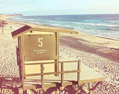 Beach Photography, Coastal Decor, Lifeguard Tower, San Clemente, California Print, Ocean Photography, Beach Decor, 8 x 10 Photo, Wall Art