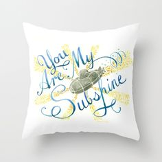 You Are My Subshine -  Decorative Pillow submarine pillow