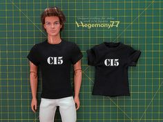 1/ 6 scale custom CI5 T shirt on Ken doll - 1:6th scale custom doll T shirts and photo made by Hegemony77