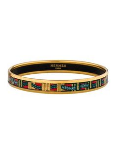 Gold-plated and multicolor Herms narrow enamel bracelet with bolduc motif. Get the lowest price on Gold-plated and multicolor Herms narrow enamel bracelet with bolduc motif and other fabulous designer clothing and accessories! Shop Tradesy now