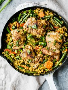 One Pan Thai Coconut Yellow Curry Chicken and Rice