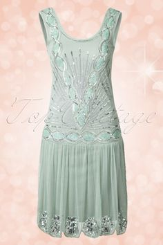Frock and Frill 20s Seafoam Green Zelda Flapper Dress 106 40 14803 20141231 0024W