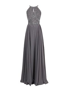 GLbridal Grey Beaded Halter Party Dress Backless Maxi Prom Evening Dress US2 GLbridal http://www.amazon.com/dp/B01DK9ATKI/ref=cm_sw_r_pi_dp_9K0axb1RM1YR6