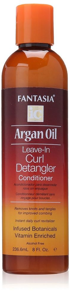 Fantasia Argan Oil Leave-In Curl Detangler 8oz (2 Pack) * Click image to review more details.