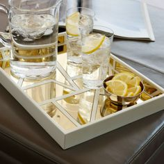 Serve your guests in style with Nate Berkus' elegant geometric tray.