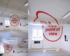 """It's a point of view"" - anamorphic typography by Felice Varini"
