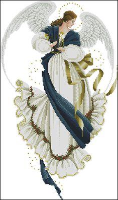 123 Cross Stitch, Celtic Cross Stitch, Cross Stitch Angels, Cross Stitching, Cross Stitch Embroidery, Embroidery Patterns, Cross Stitch Patterns, Christmas Angels, Christmas Art