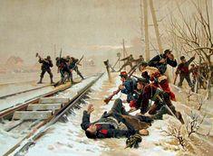 French destroying rail lines - Franco-Prussian War