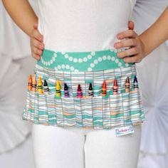Crayon Apron by Bobaloo. Artists Like, Art Fair, Apron, Sewing, Zig Zag, Arcade, Handmade, Crafts, Dressmaking