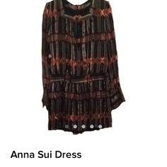 Anna Sui Dresses & Skirts - Anna Sui F/W 2012 circus stripe silk dress