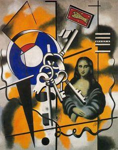 The Mona Lisa with keys, Oil by Fernand Leger (1881-1955, France) ▓█▓▒░▒▓█▓▒░▒▓█▓▒░▒▓█▓ Gᴀʙʏ﹣Fᴇ́ᴇʀɪᴇ ﹕☞ http://www.alittlemarket.com/boutique/gaby_feerie-132444.html ══════════════════════ ♥ #bijouxcreatrice ☞ https://fr.pinterest.com/JeanfbJf/P00-les-bijoux-en-tableau/ ▓█▓▒░▒▓█▓▒░▒▓█▓▒░▒▓█▓