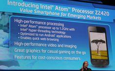 Intel a prezentat la CES 2013, platforma de procesoare Lexington, iar primul procesor din aceasta platforma este Intel Atom Z2420