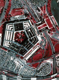 A color aerial photograph of The Pentagon. Arlington Virginia, World Trade Center, Pentagon, Forgive, Delaware, Arkansas, Mississippi, Washington Dc, Maryland
