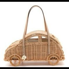 "Spotted while shopping on Poshmark: ""Wicker Car Purse Kate Spade""! #poshmark #fashion #shopping #style #kate spade #Handbags"
