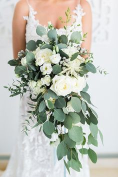 Summer Flower Bridal Bouquet in White and Green https://heyweddinglady.com/mediterranean-citrus-inspired-destination-wedding/ #wedding #weddings #weddinginspiration #destinationwedding #realwedding #bohemianwedding #brides #realbride #weddingdress #bouquet