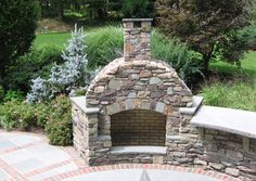 Outdoor Fireplace Design Ideas like the way this fireplace has three openings instead of just the one putting Bbq Outdoor Kitchen Built In Grill Fireplace Design Ideas Nj
