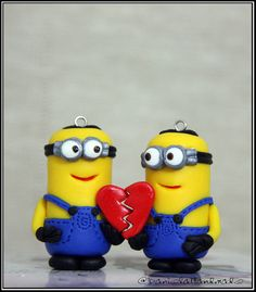 Key chain Set  Minions Love by danielahandmade on Etsy, $37.00