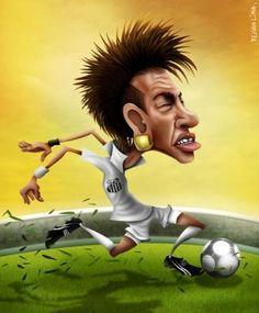 Caricaturas de neymar Jr