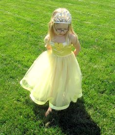 Belle Dress: all yellow Beauty and the Beast, lined tutu dress, Disney, Birthday Party, Princess, adjustable, easy on and off