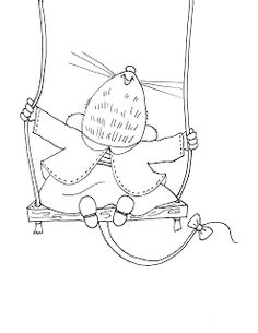 Free Dearie Dolls Digi Stamps: Swinging Mousie