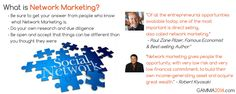 What is Network Marketing? Get your answers from the right source. www.gamma2014.com