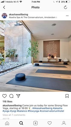 Yoga Room Studio Meditation Space 61 Ideas For 2019 Yoga Studio Design, Yoga Room Design, Yoga Studio Home, Gym Design, Studio Room, Yoga Studio Interior, Home Yoga Studios, Yoga Studio Decor, Home Interior