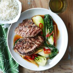 Lamb chump chops are a great cut for any meals.Grilled and served with simple Asian greens this dish is sure to impress.